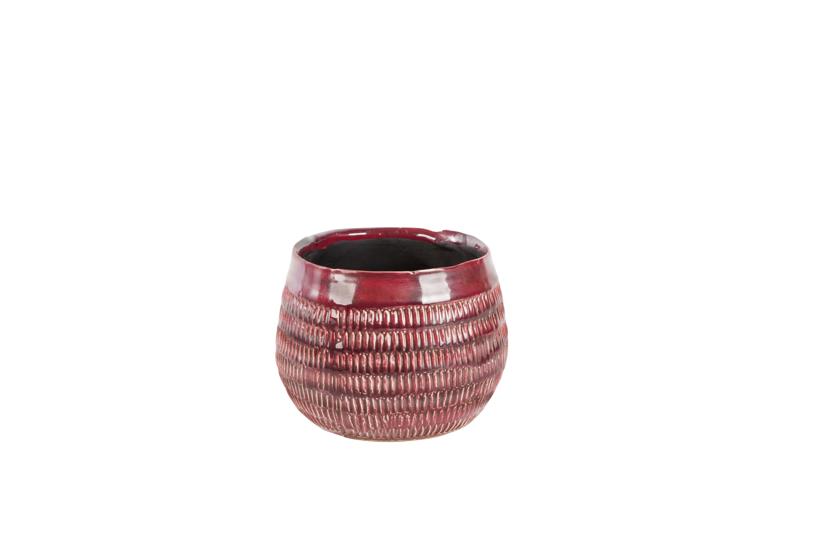 Set 4 ghivece ceramice Atmosphere Earth Red O 17 cm