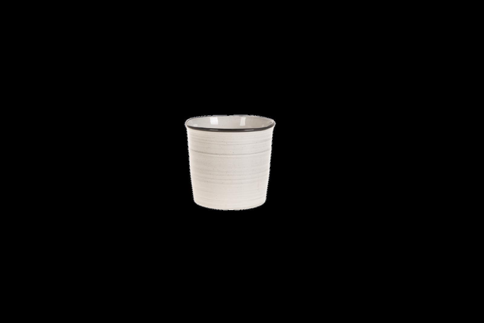 Set 6 ghivece ceramice Atmosphere Grey O 15 cm