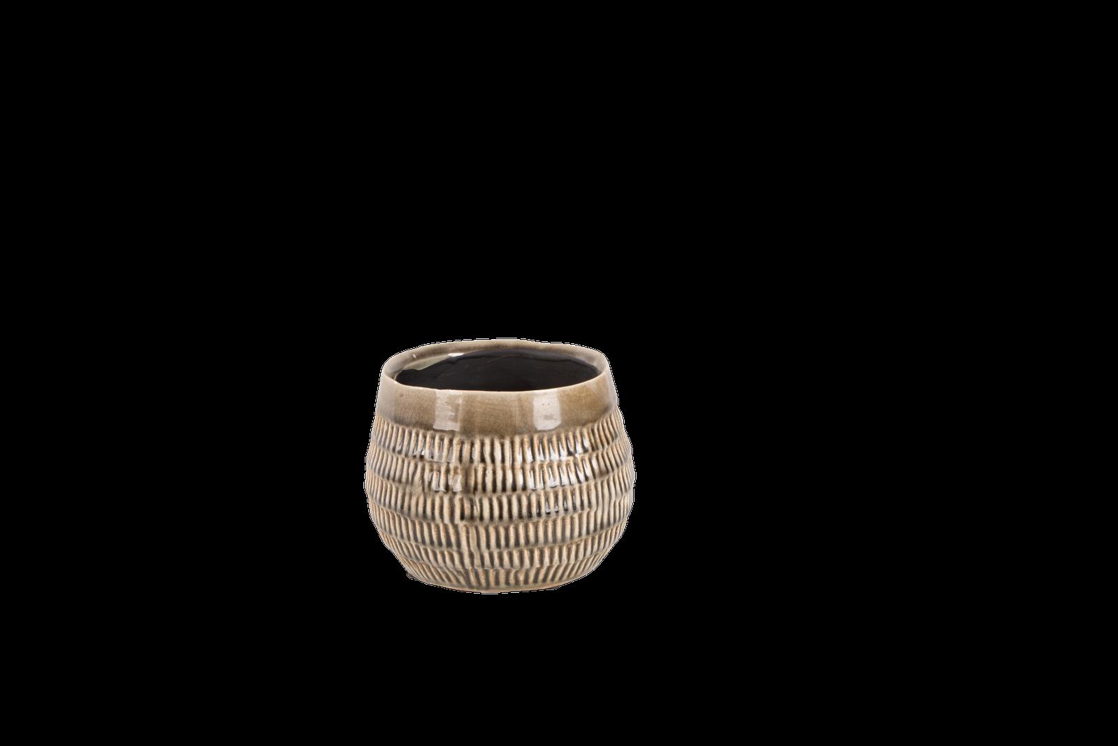 Set 6 ghivece ceramice Atmosphere Steeple Grey O 14 cm