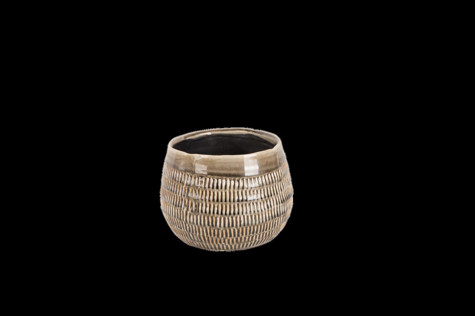 Set 4 ghivece ceramice Atmosphere Steeple Grey O 17 cm