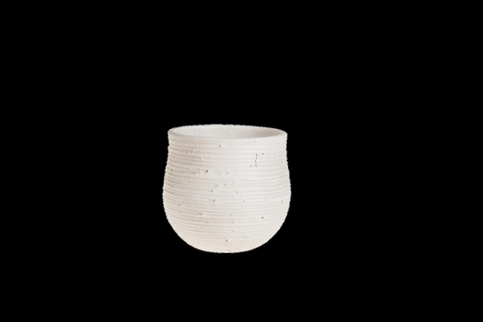 Set 2 ghivece ceramice Atmosphere White O 18 cm