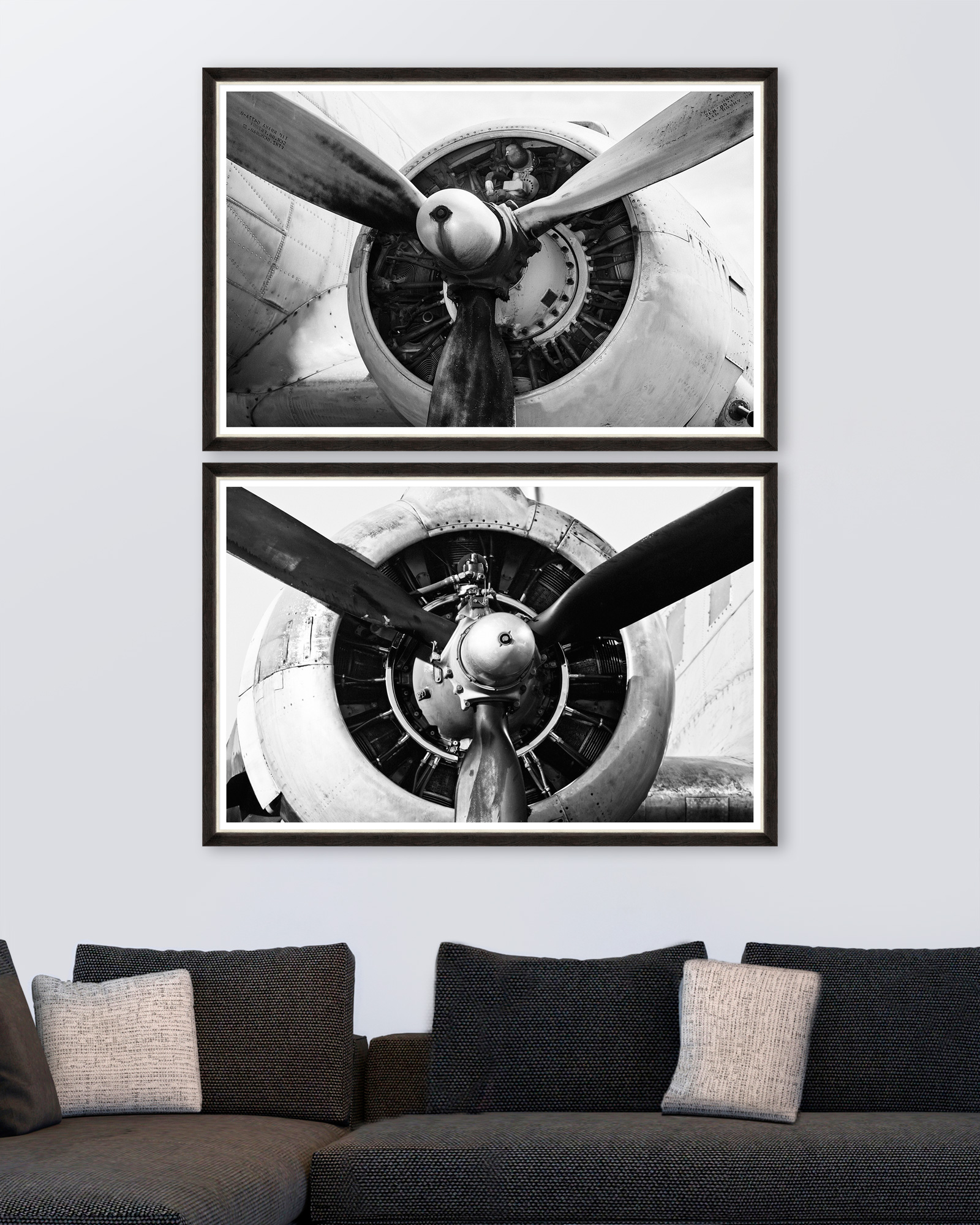 Tablou 2 piese Framed Art Giant Propellers imagine