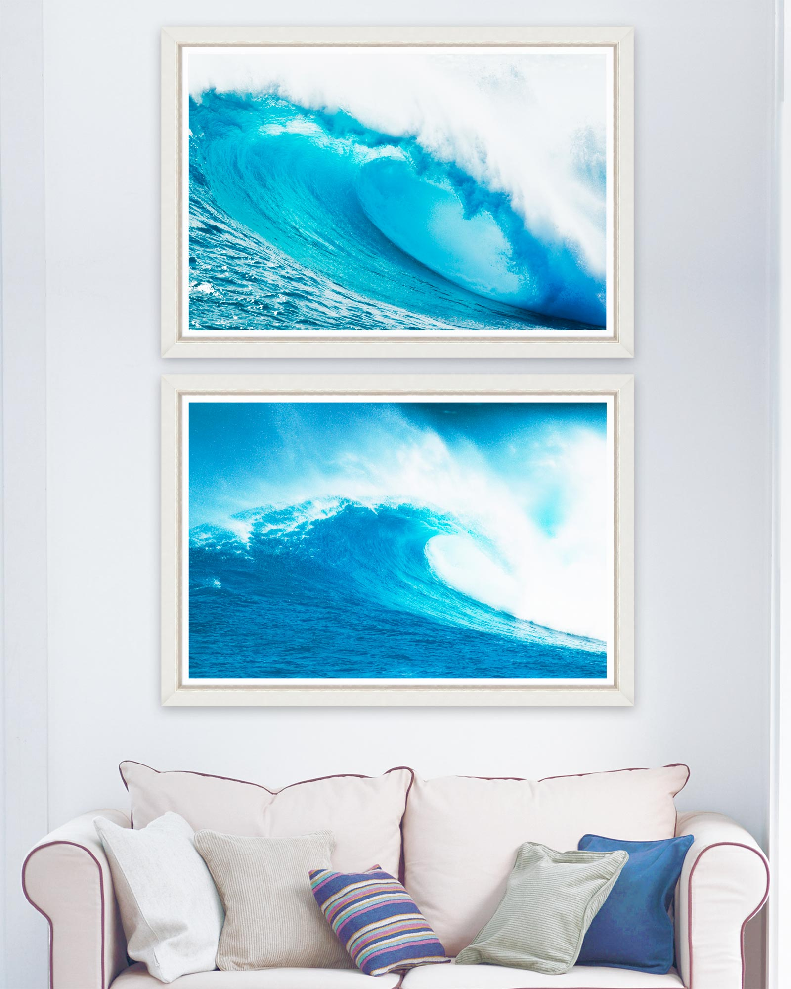 Tablou 2 piese Framed Art Giant Waves