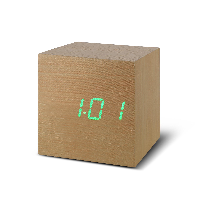 Ceas Inteligent Cube Click Clock Beech/green