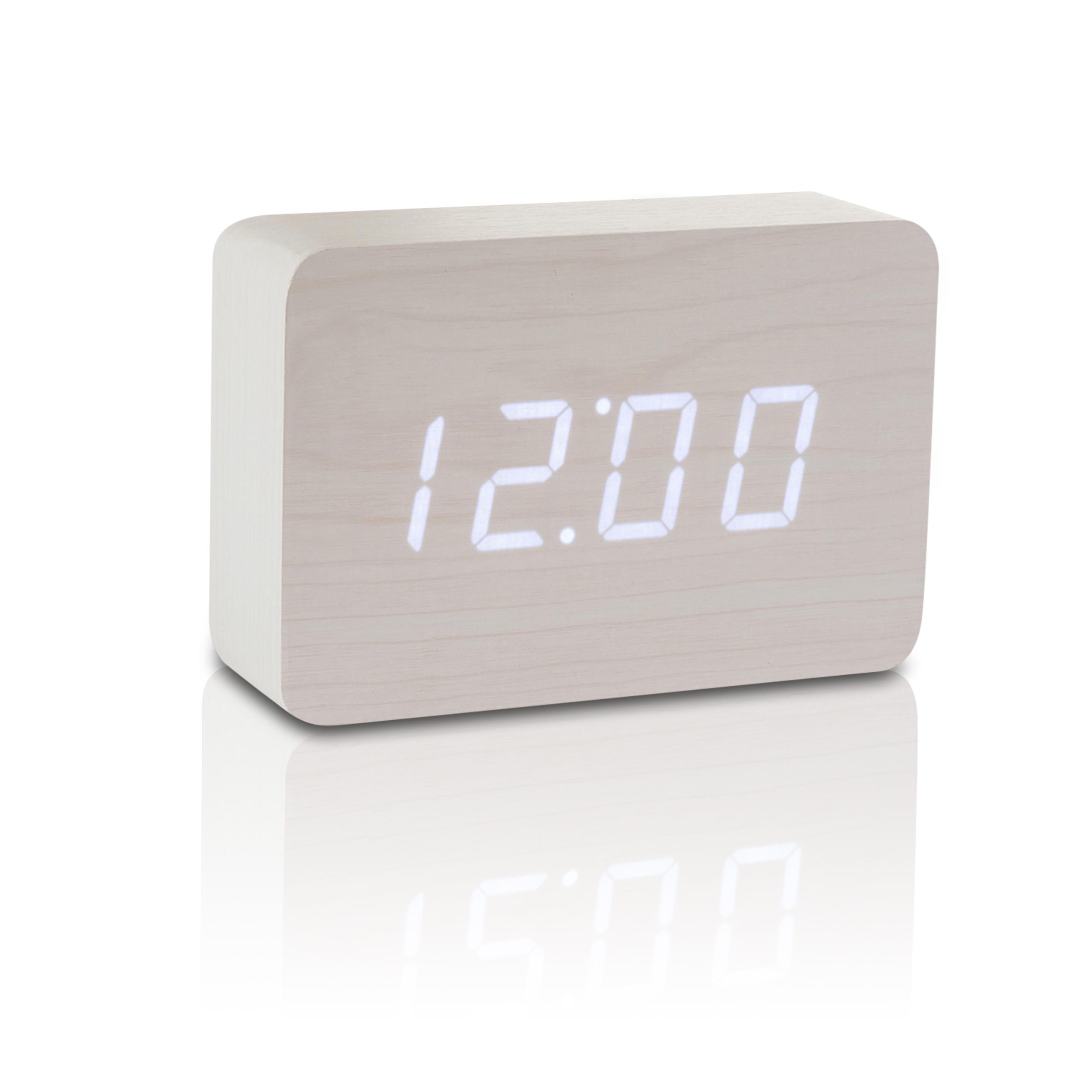 Ceas Cu Functie De Intensitate Redusa Brick Click Clock White/white
