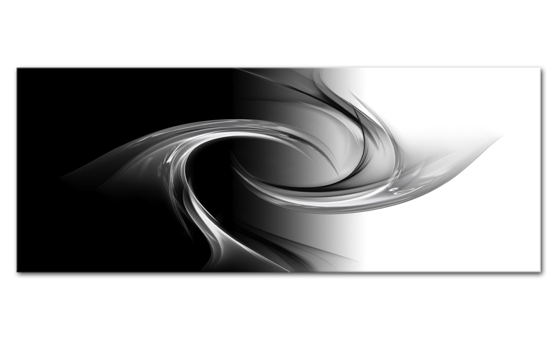 Tablou Sticla Glasspik Abstrakcja Grey 50x125 cm