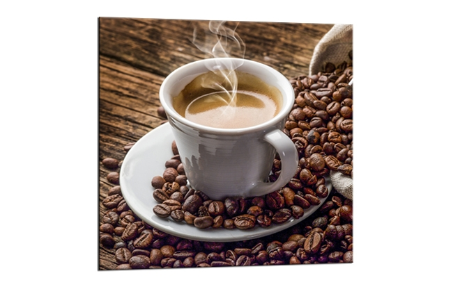 Tablou Sticla Glasspik Coffee 1B 20x20 cm