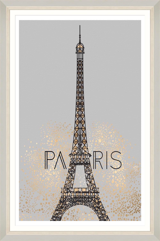 Tablou Framed Art Golden Paris