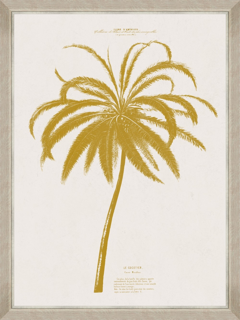 Tablou Framed Art Gold Palm Tree I