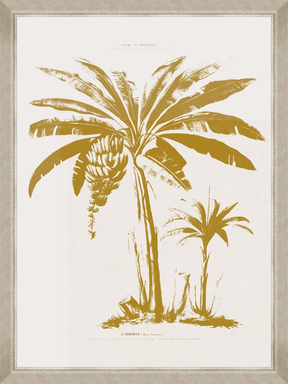 Tablou Framed Art Gold Palm Tree II