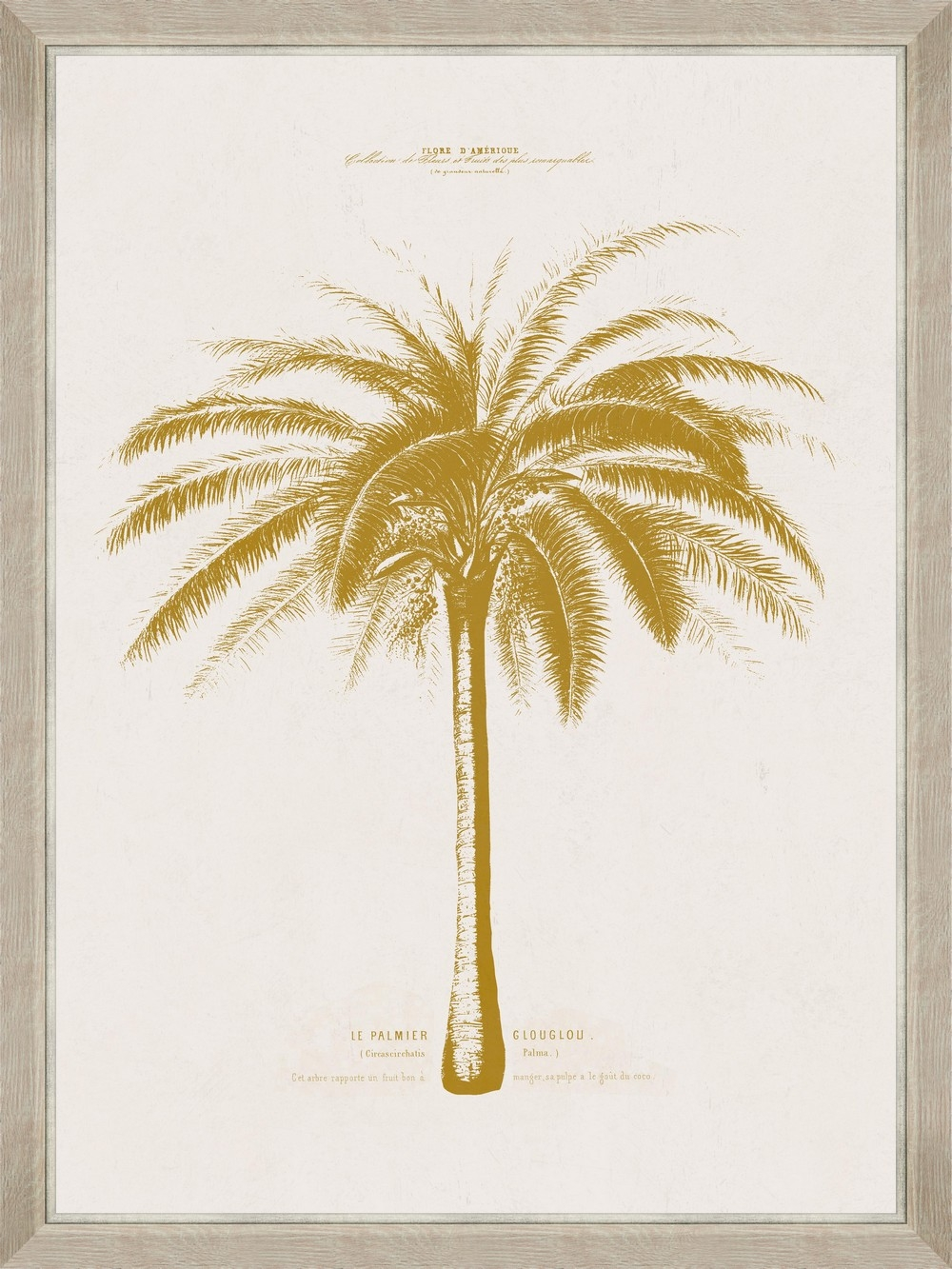 Tablou Framed Art Gold Palm Tree III