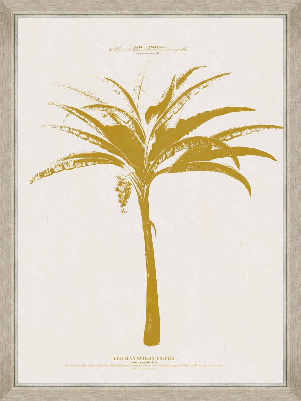 Tablou Framed Art Gold Palm Tree IV