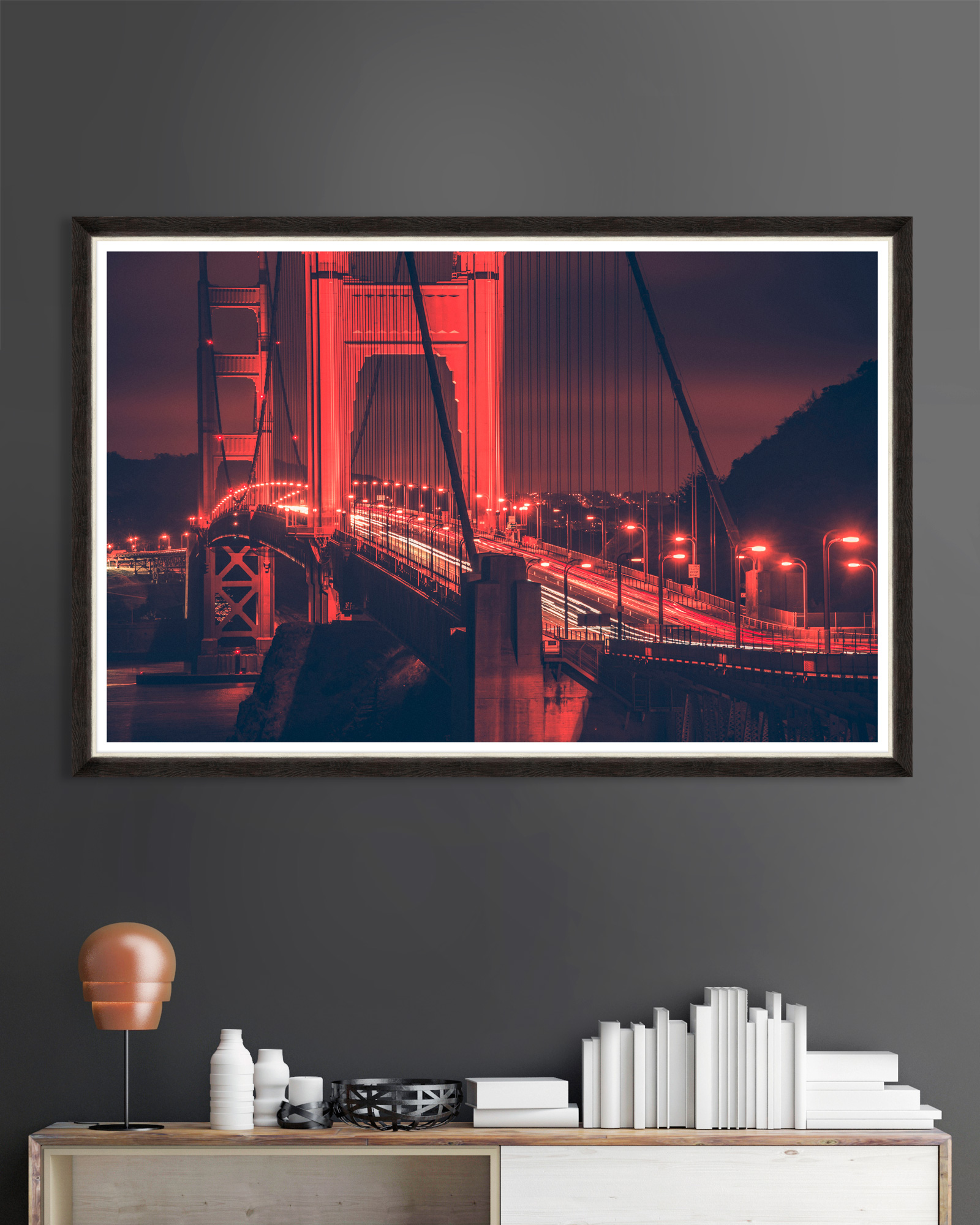 Tablou Framed Art Golden Gate Lights imagine