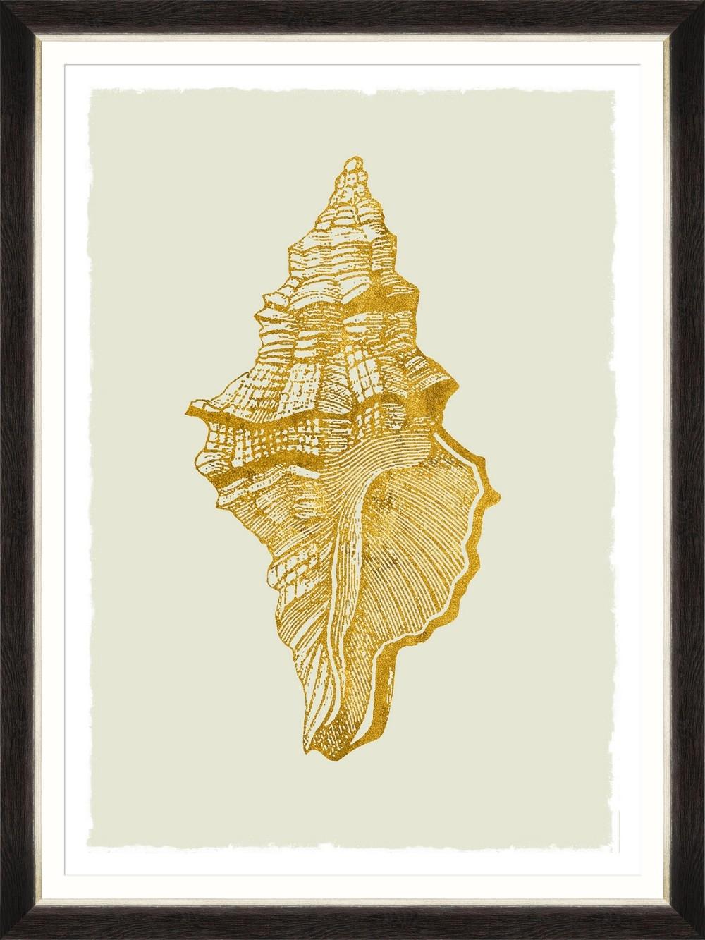 Tablou Framed Art Golden Seashell I