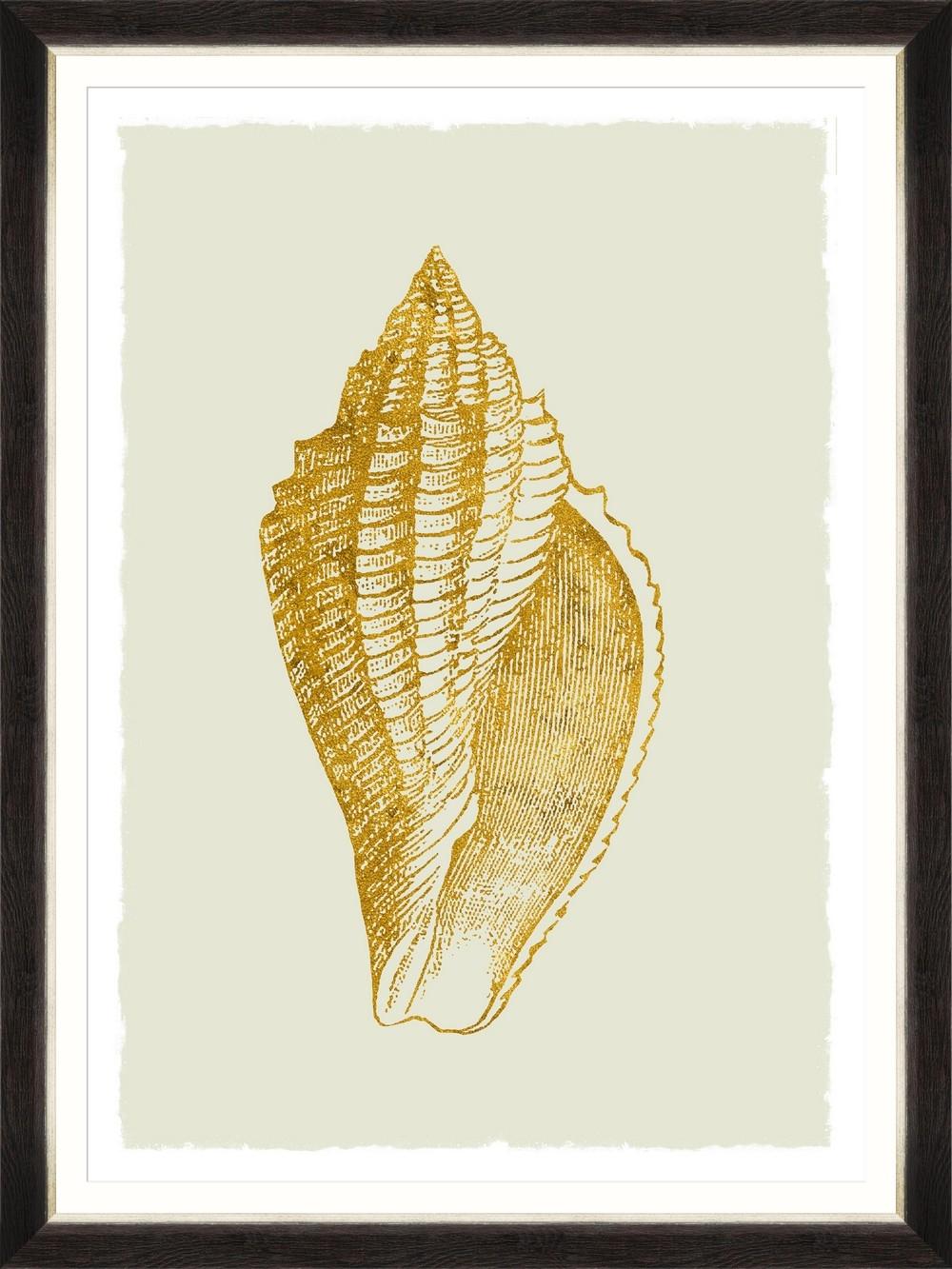 Tablou Framed Art Golden Seashell III