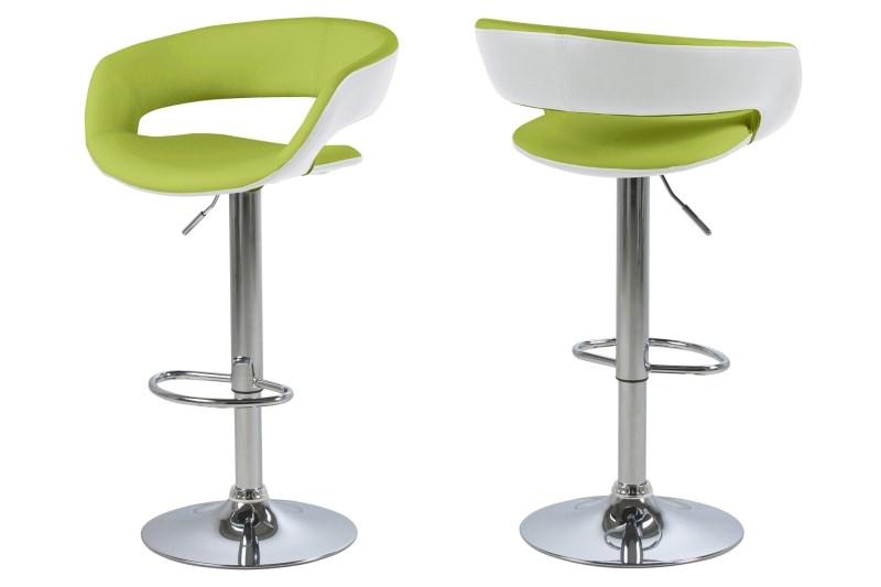 Set 2 scaune de bar Grace Green/White