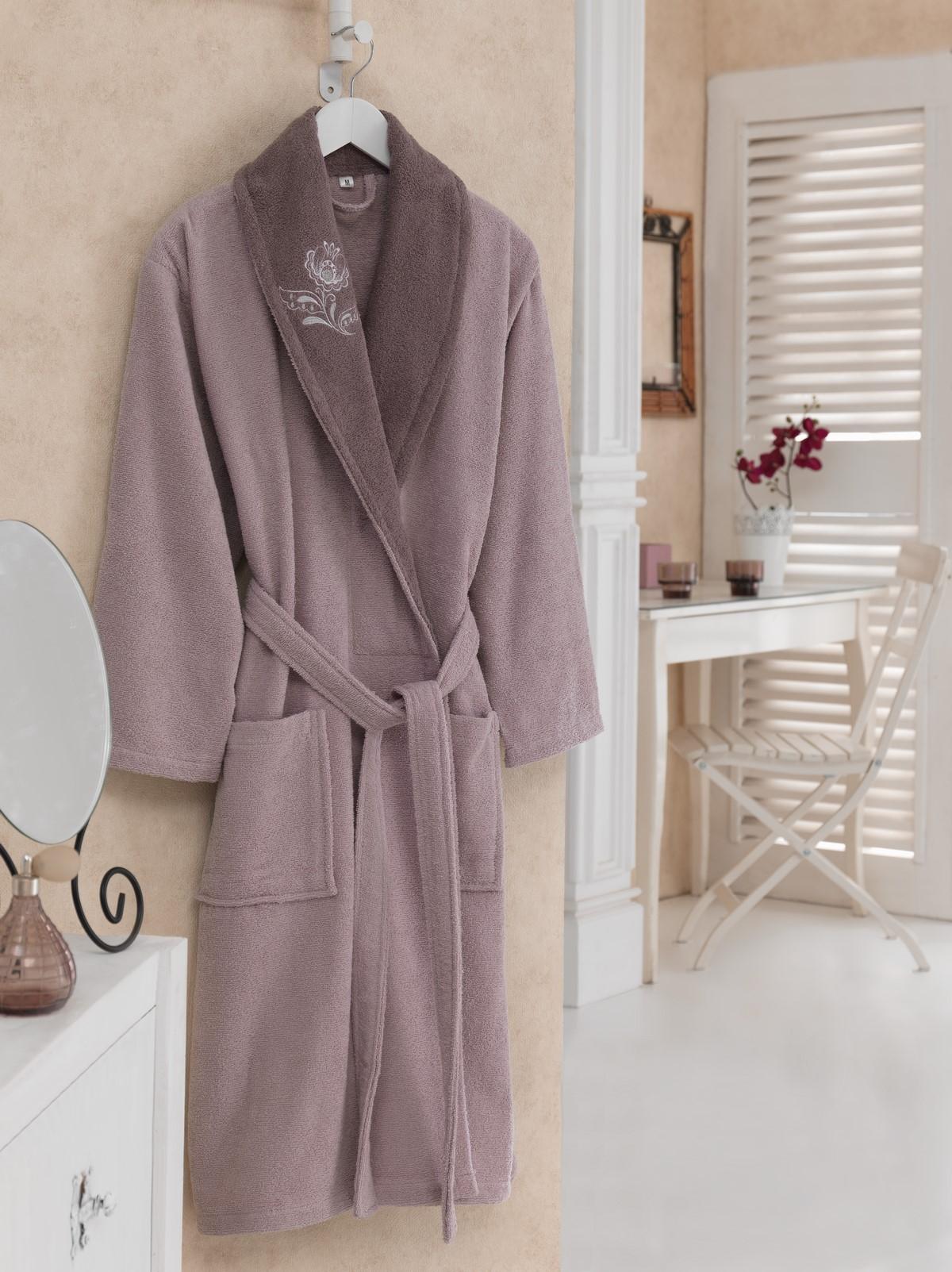 Halat de baie femei din bumbac, Daily Violet / Mov, S / M