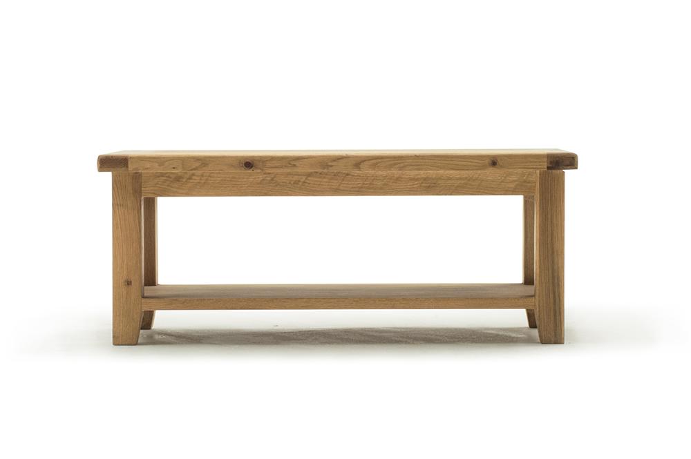 poze cu Masa de cafea din lemn de stejar Hampshire Large, L110xl55x h45 cm