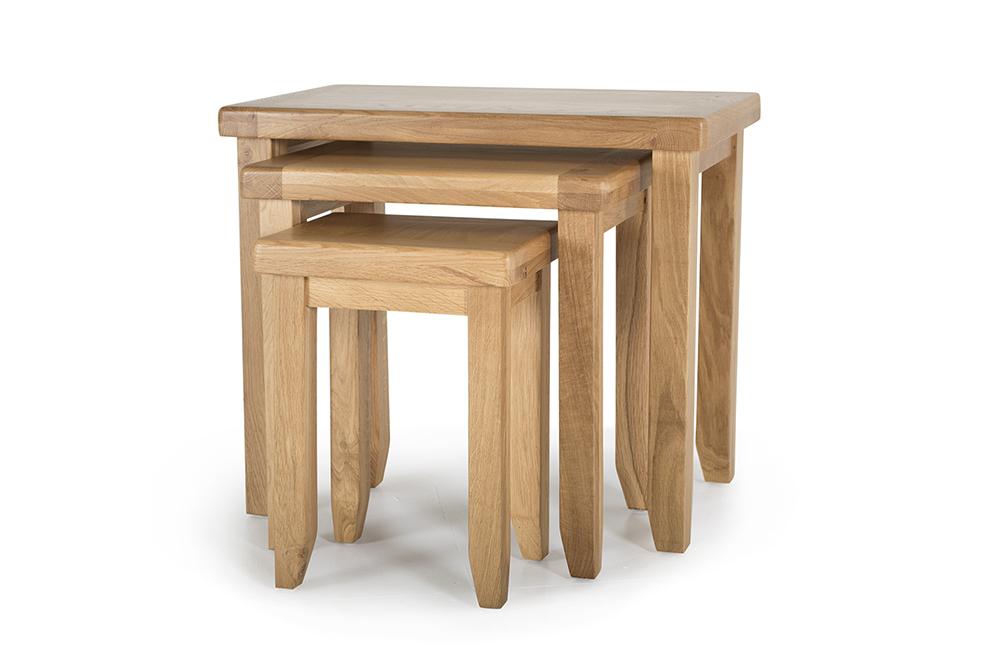 Set 3 mese din lemn de stejar Hampshire