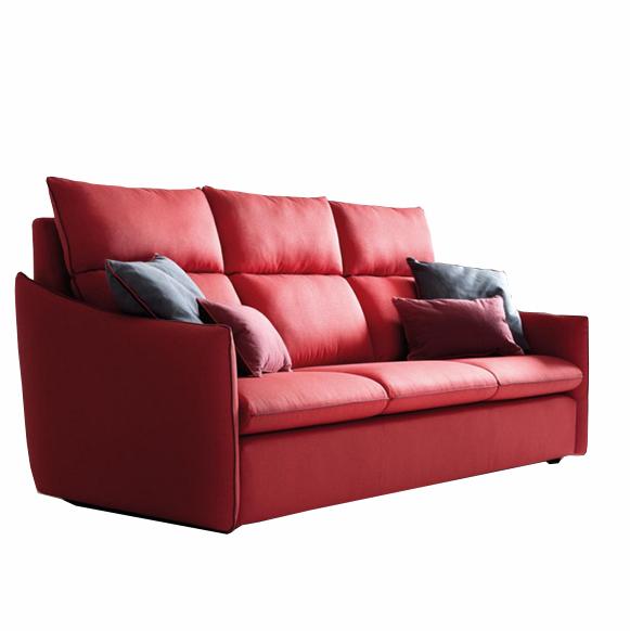 Canapea fixa 3 locuri Helen Red, l231xA106xH109 cm
