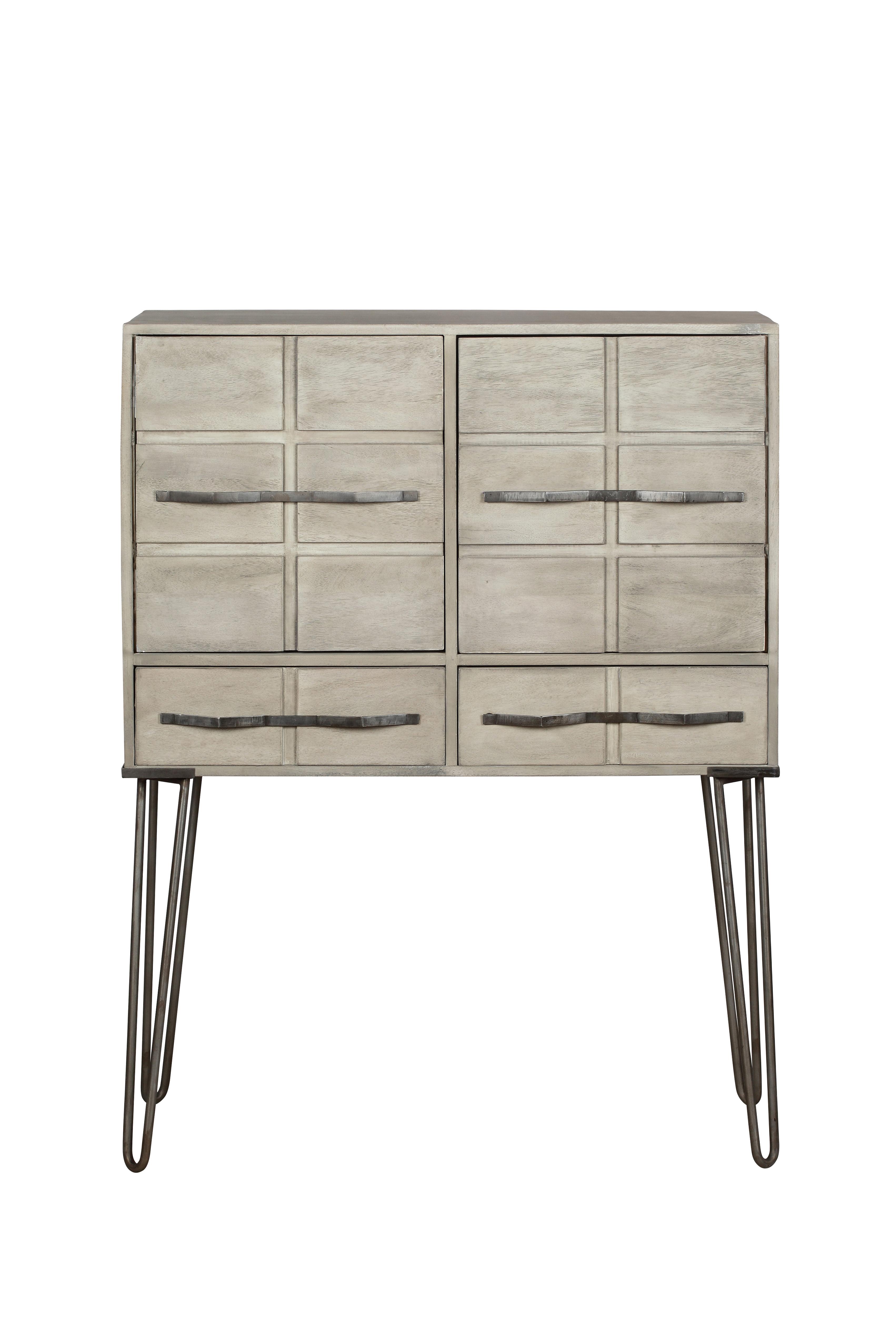 Cabinet din lemn cu 3 sertare si 2 usi Wilson Natural l905xA42xH120 cm