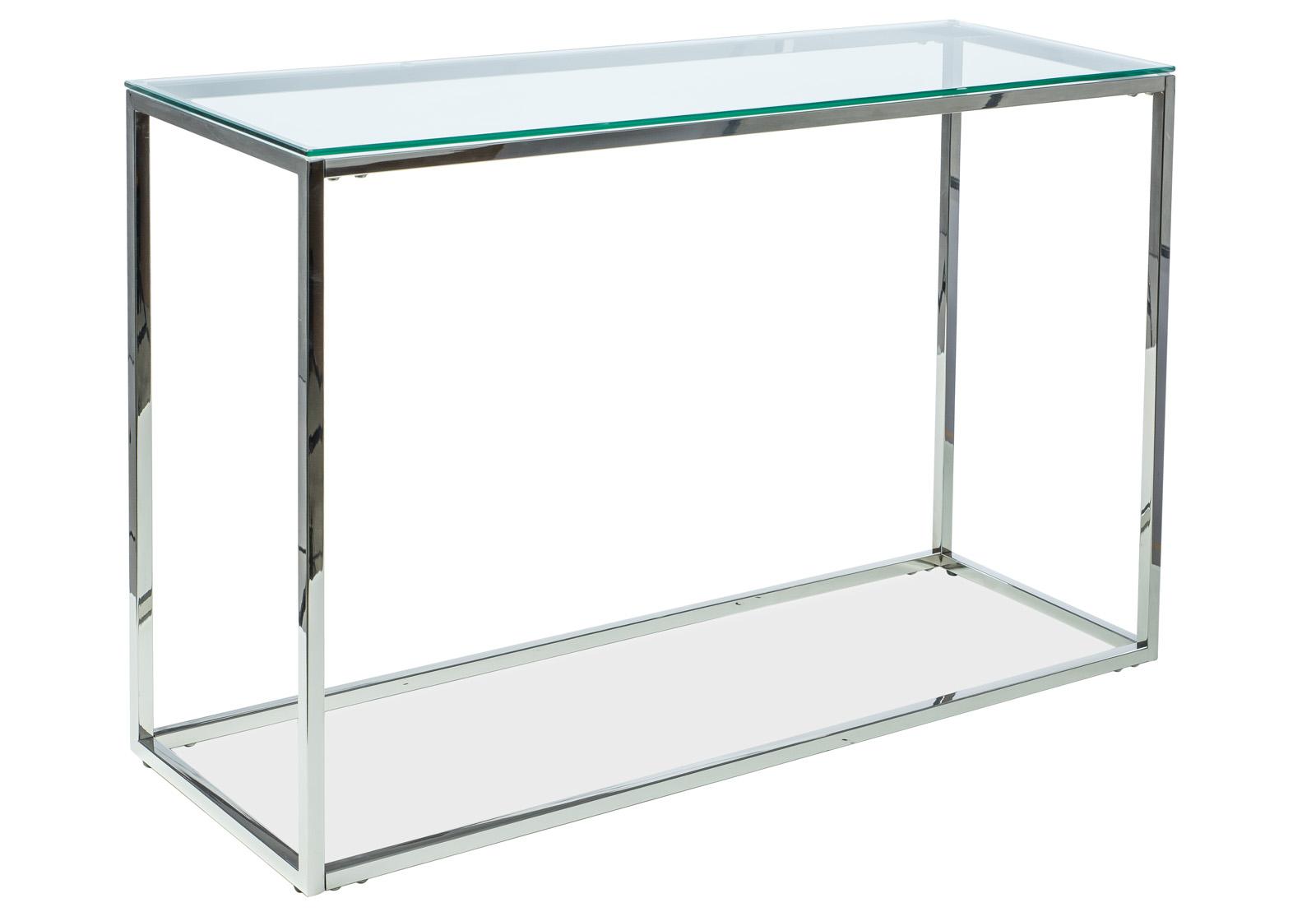 Consola din sticla Hilton C, L120xl40xh78 cm