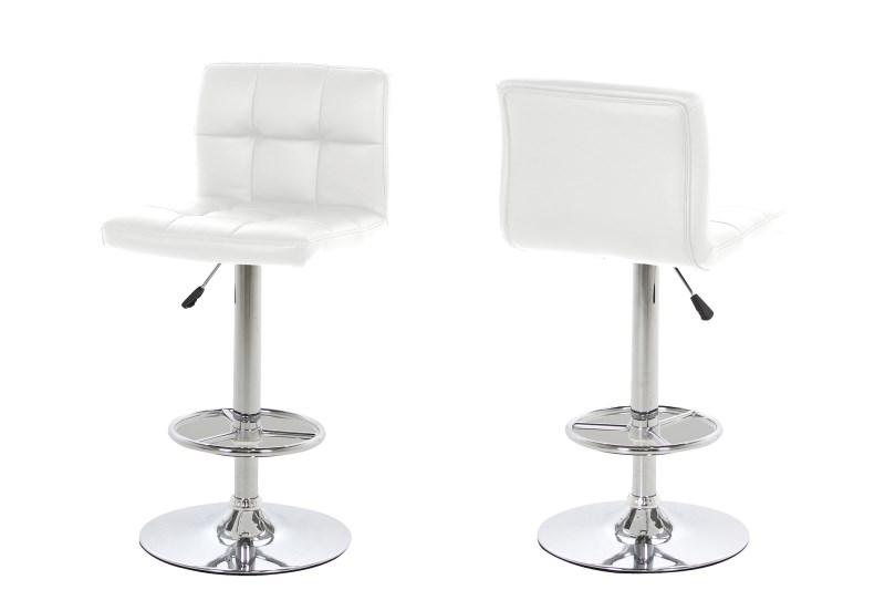 Set 2 scaune de bar tapitate Hot White imagine