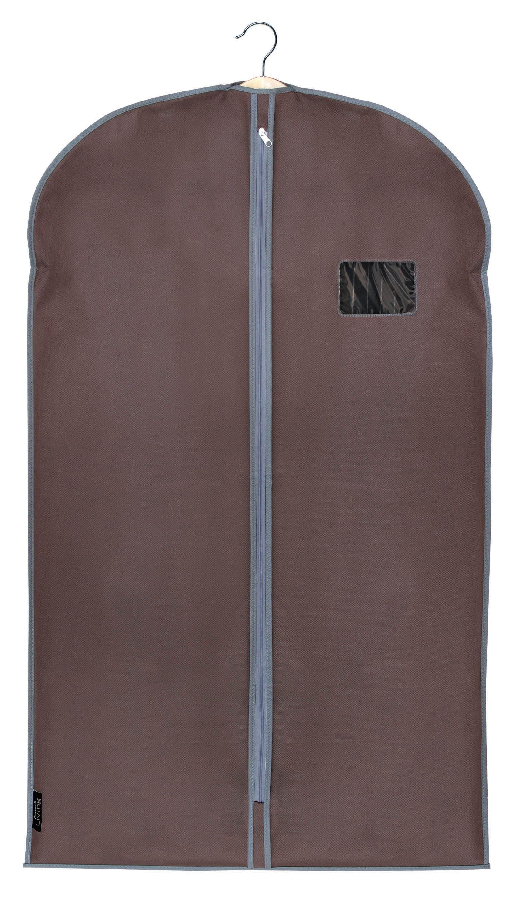 Husa pentru haine cu fermoar, Classic Maro, l60xH100 cm poza
