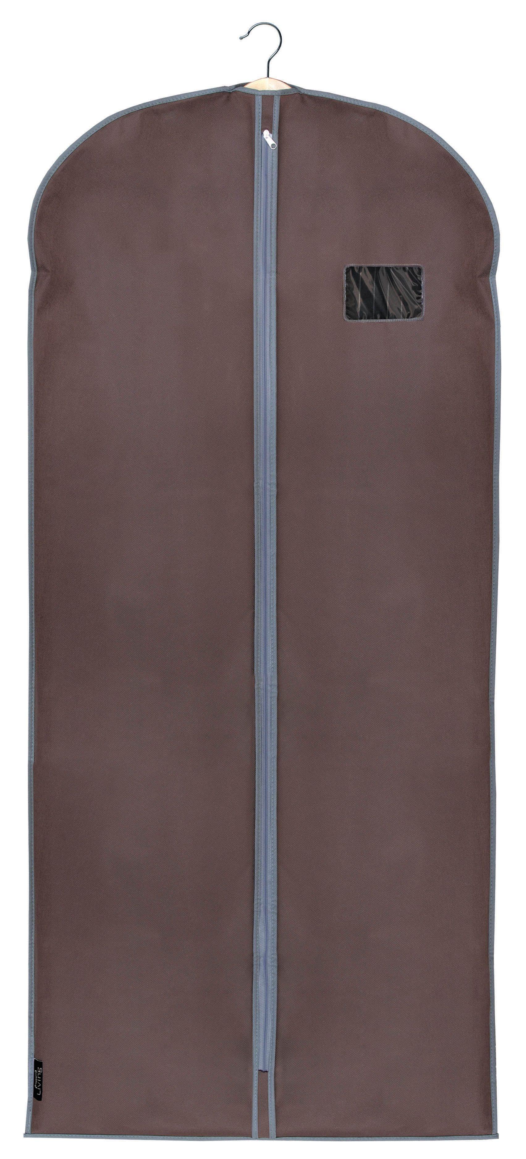 Husa pentru haine cu fermoar, Classic XL Maro, l60xH135 cm imagine