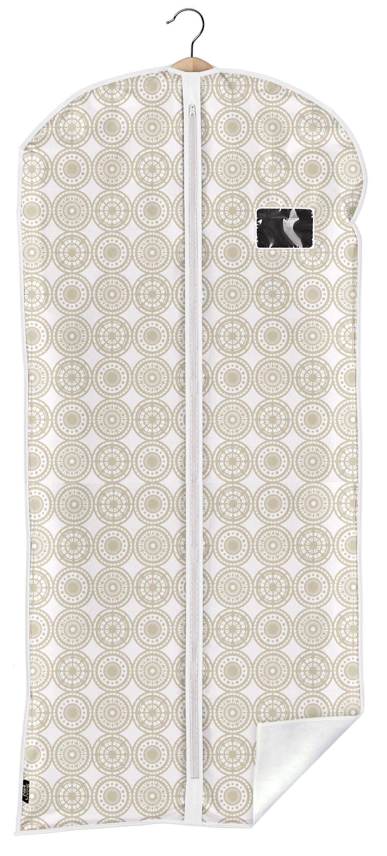 Husa pentru haine cu fermoar, Ella XL Bej, l60xH135 cm poza