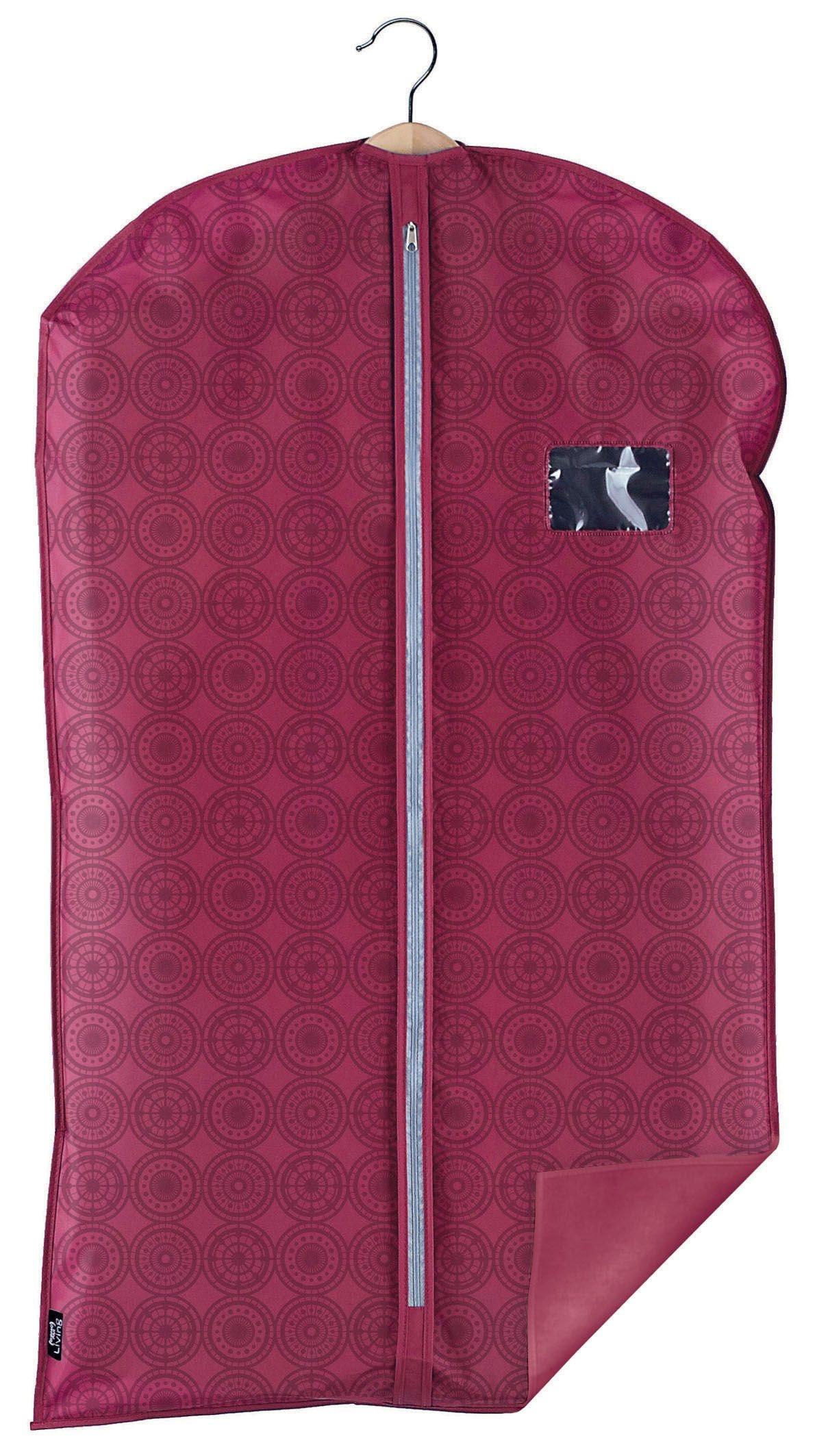 Husa pentru haine cu fermoar, Ella Bordeaux, l60xH100 cm poza