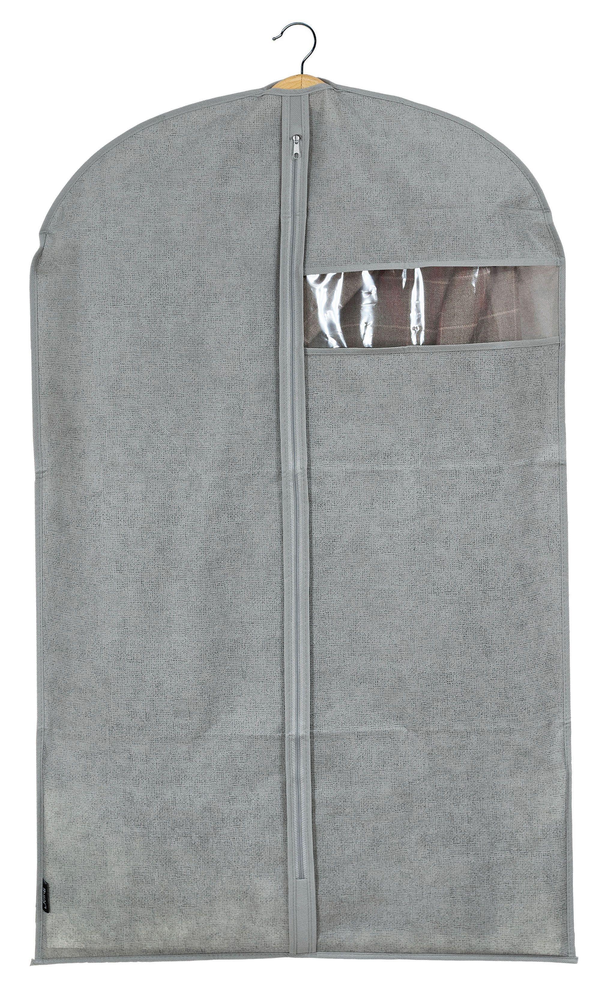 Husa pentru haine cu fermoar, Mais Gri, l60xH100 cm somproduct.ro