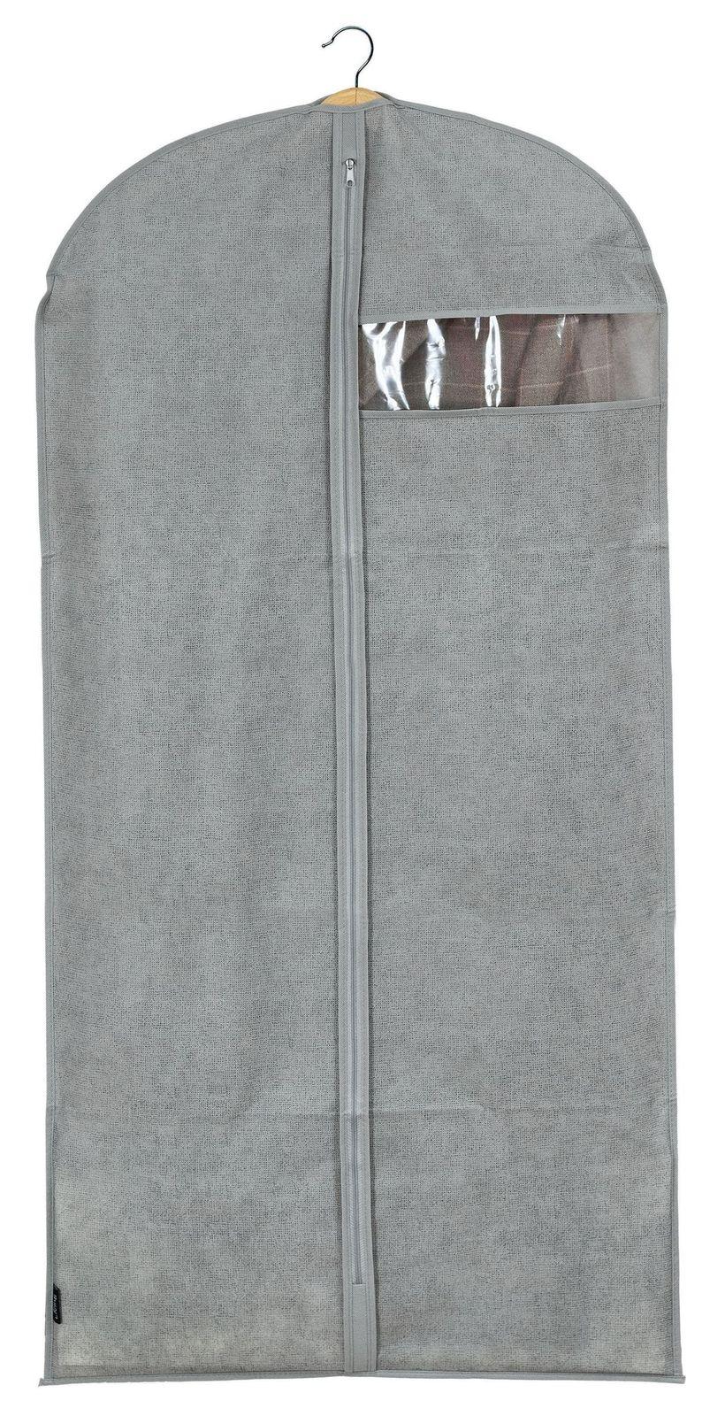 Husa pentru haine cu fermoar, Mais XL Gri, l60xH135 cm imagine