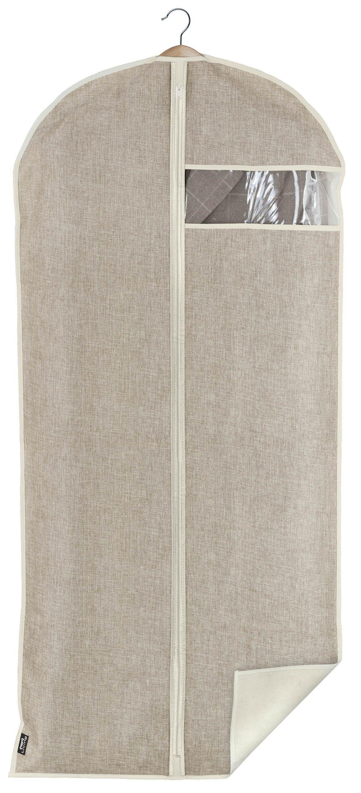 Husa pentru haine cu fermoar, Maison XL Crem, l60xH135 cm poza