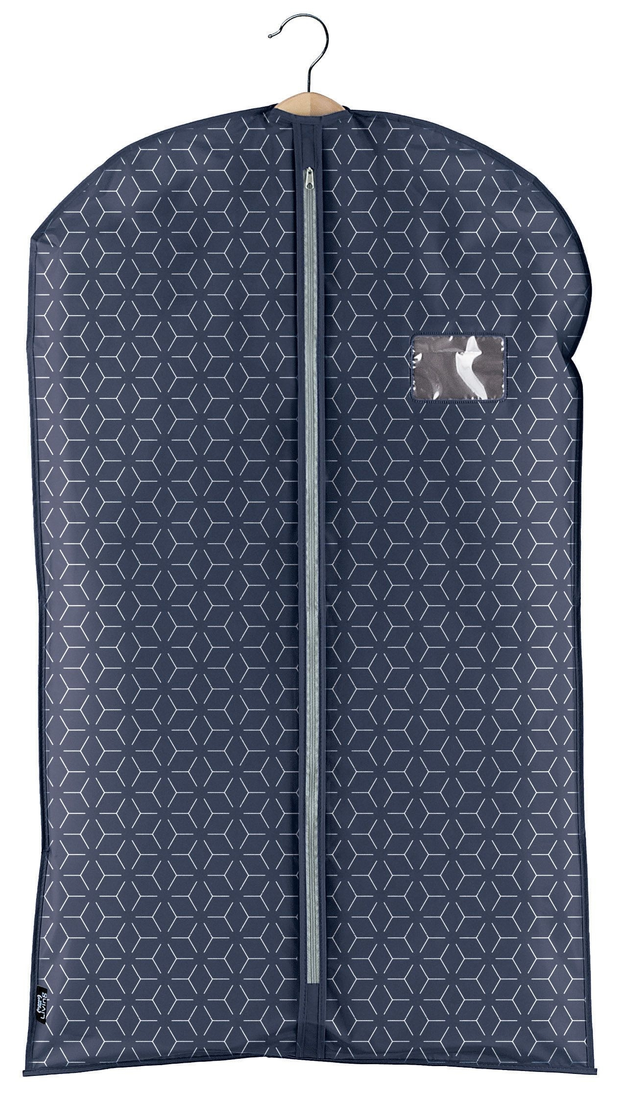 Husa pentru haine cu fermoar, Metrik Bleumarin, l60xH100 cm imagine