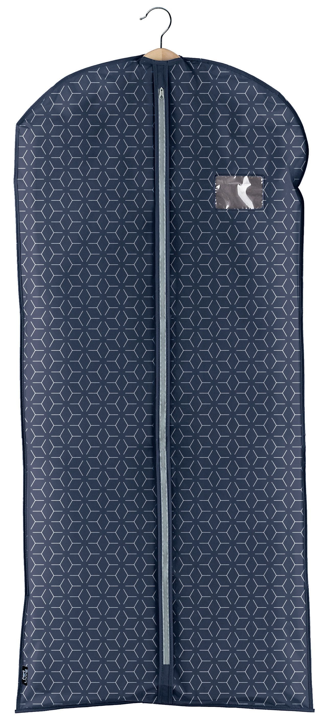 Husa pentru haine cu fermoar, Metrik XL Bleumarin, l60xH135 cm imagine