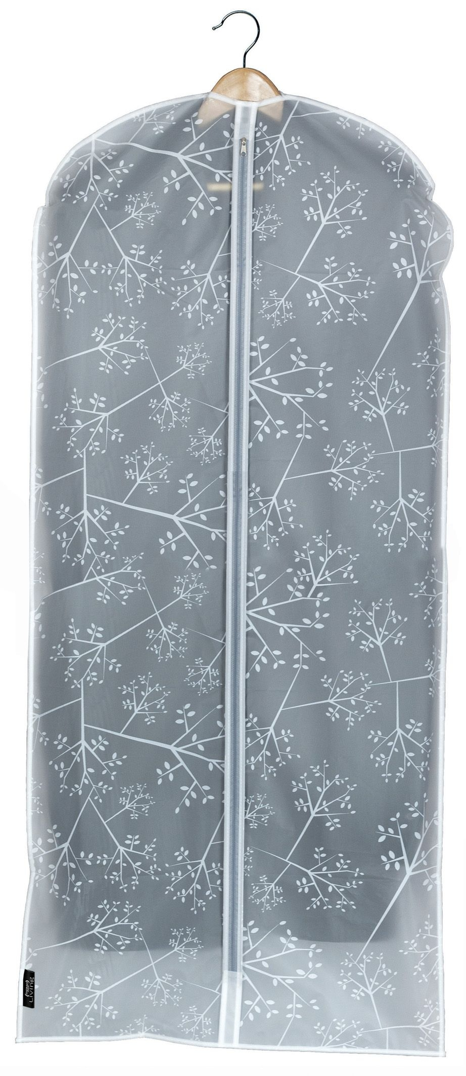 Husa pentru haine cu fermoar, Bon Ton Transparent / Alb, l60xH135 cm imagine