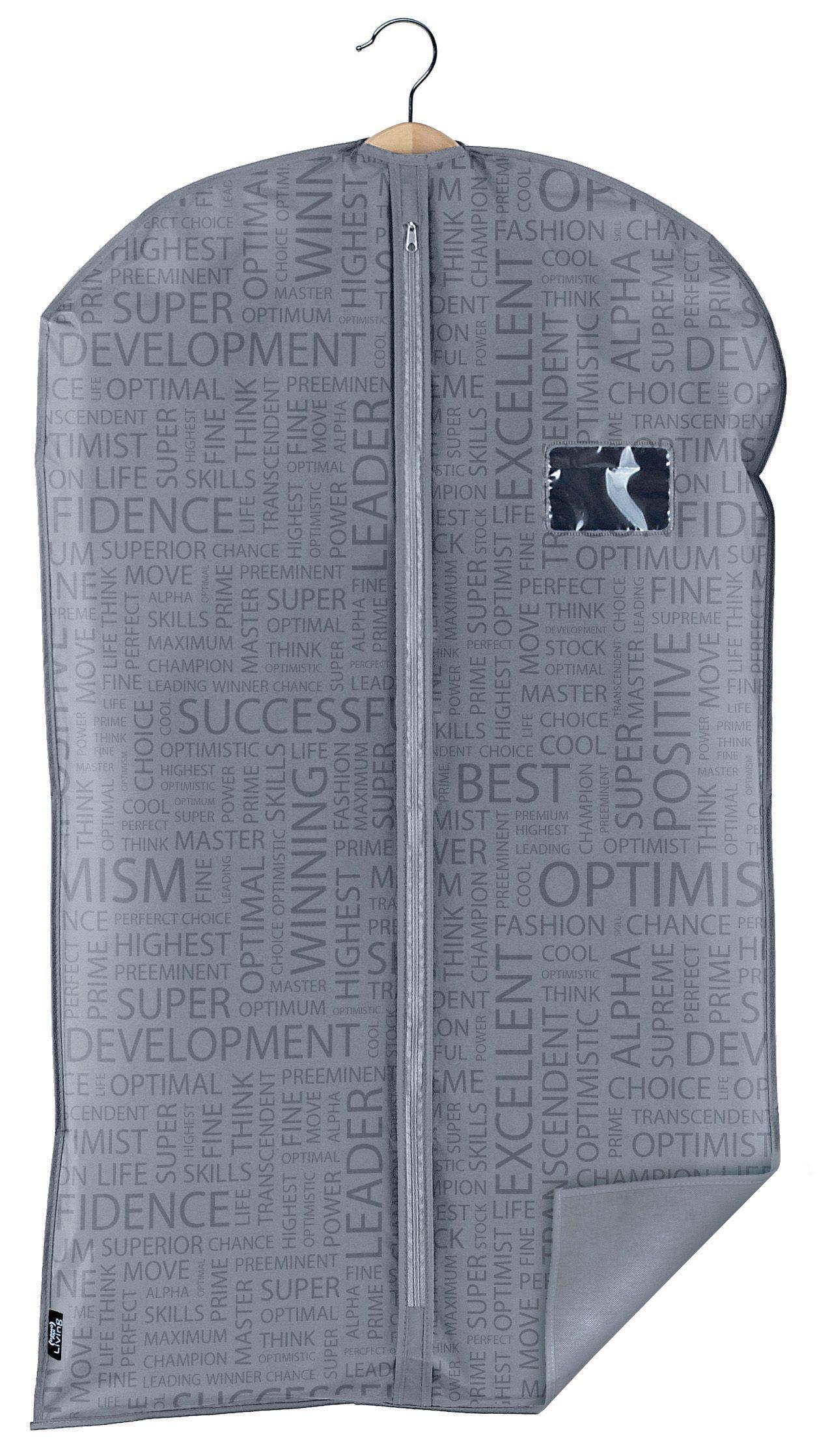 Husa pentru haine cu fermoar, Urban Gri, l60xH100 cm imagine