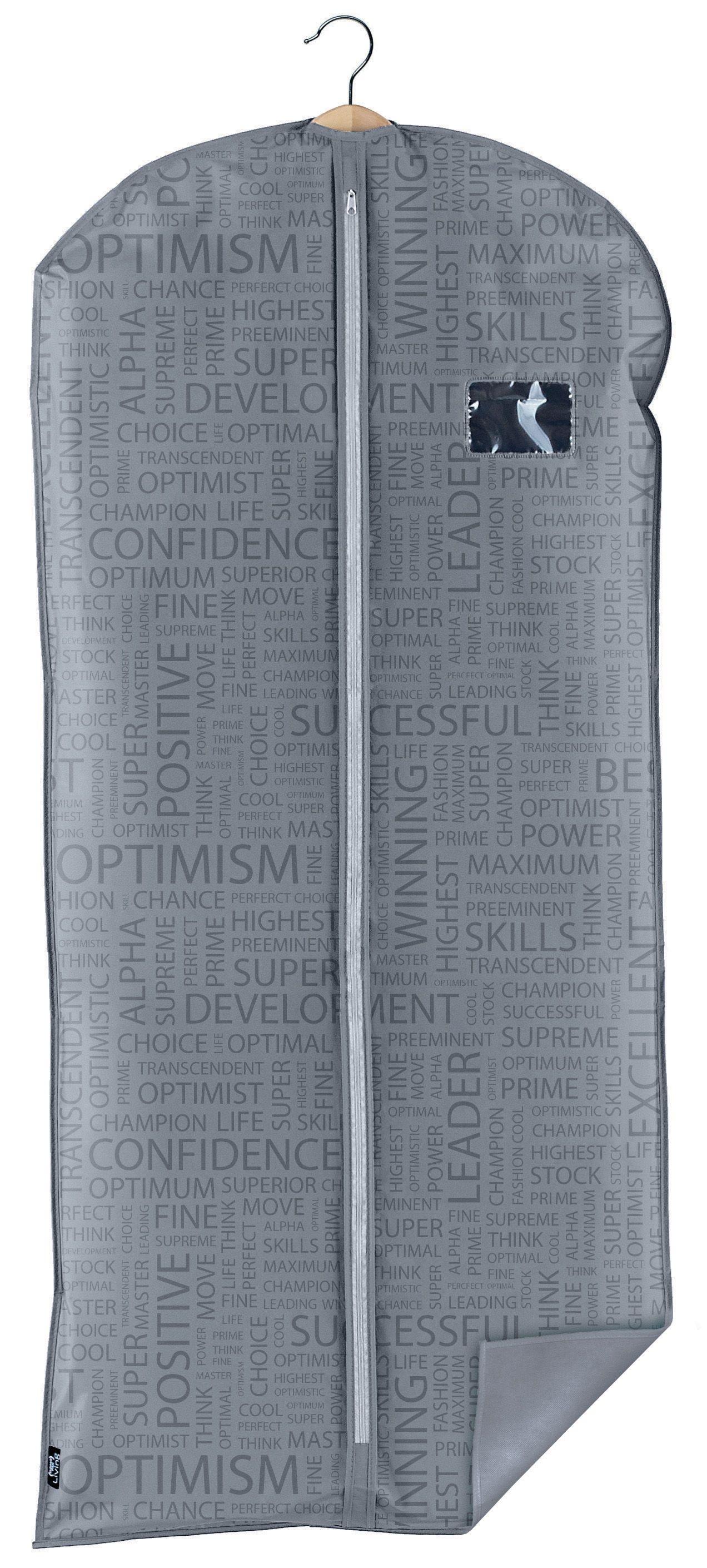 Husa pentru haine cu fermoar, Urban XL Gri, l60xH135 cm