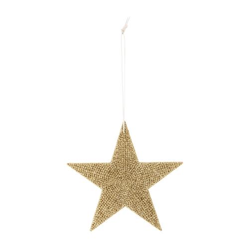 Ornament Brad  Sparkling Star  Auriu O12xH12 cm