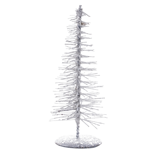 Decoratiune Tree Glitter Alb  Ø6xh15 Cm