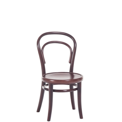 Scaun pentru copii, din lemn de fag Petit Brown, l32xA40,5xH63 cm imagine