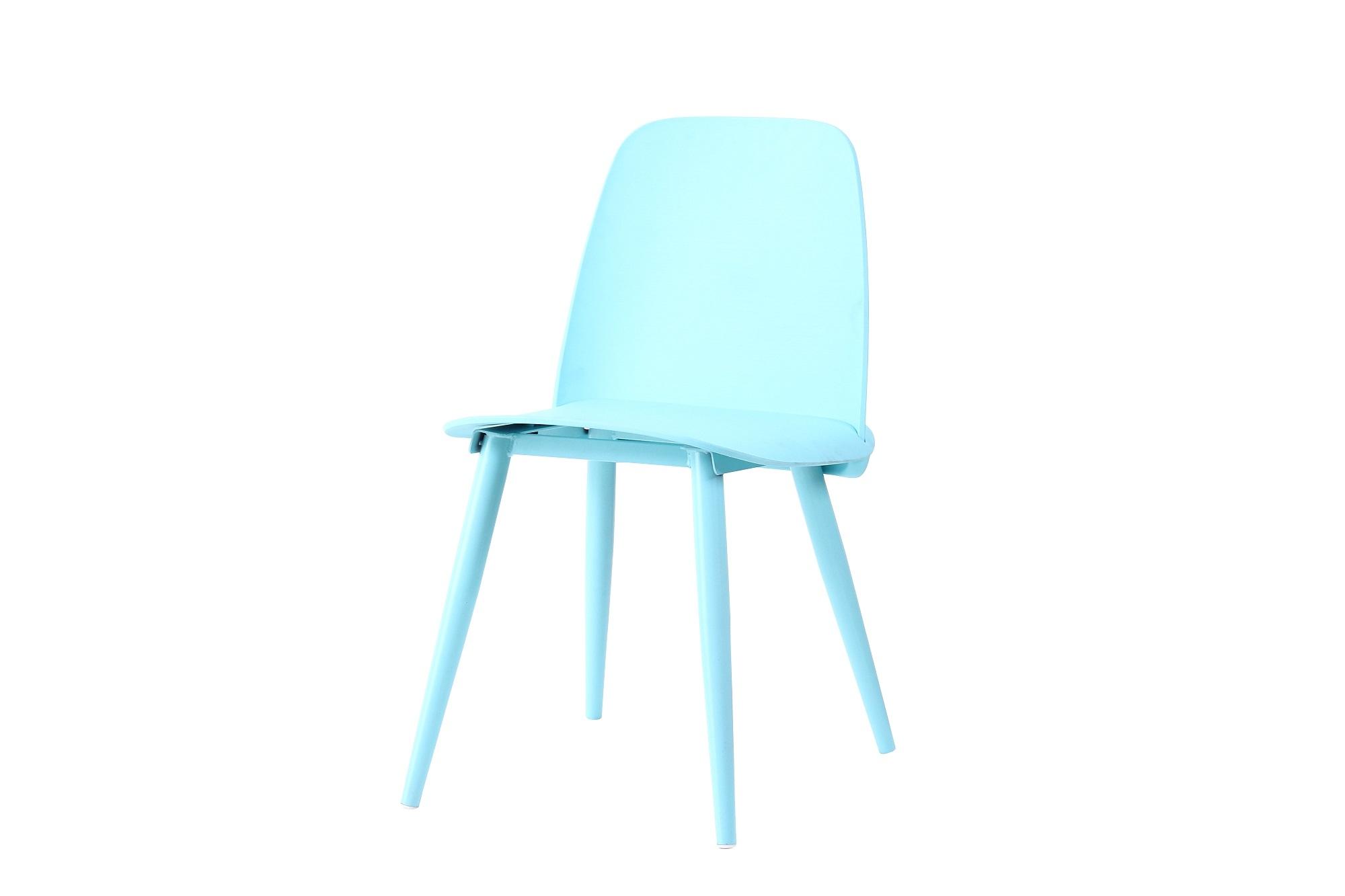 Scaun din plastic, cu picioare metalice Sting Blue, l50xA46xH80cm