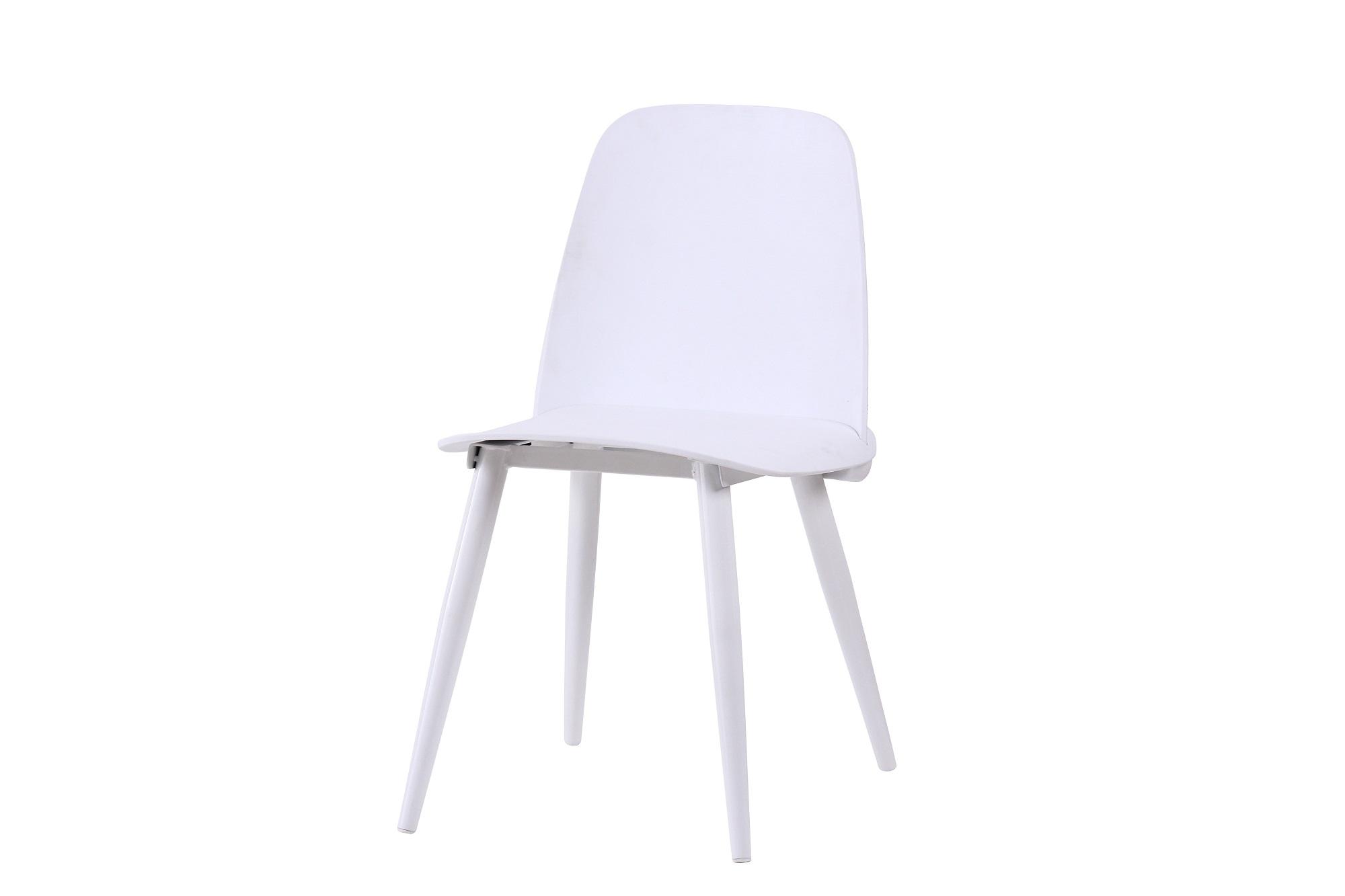 Scaun din plastic cu picioare metalice Sting White l50xA46xH80cm