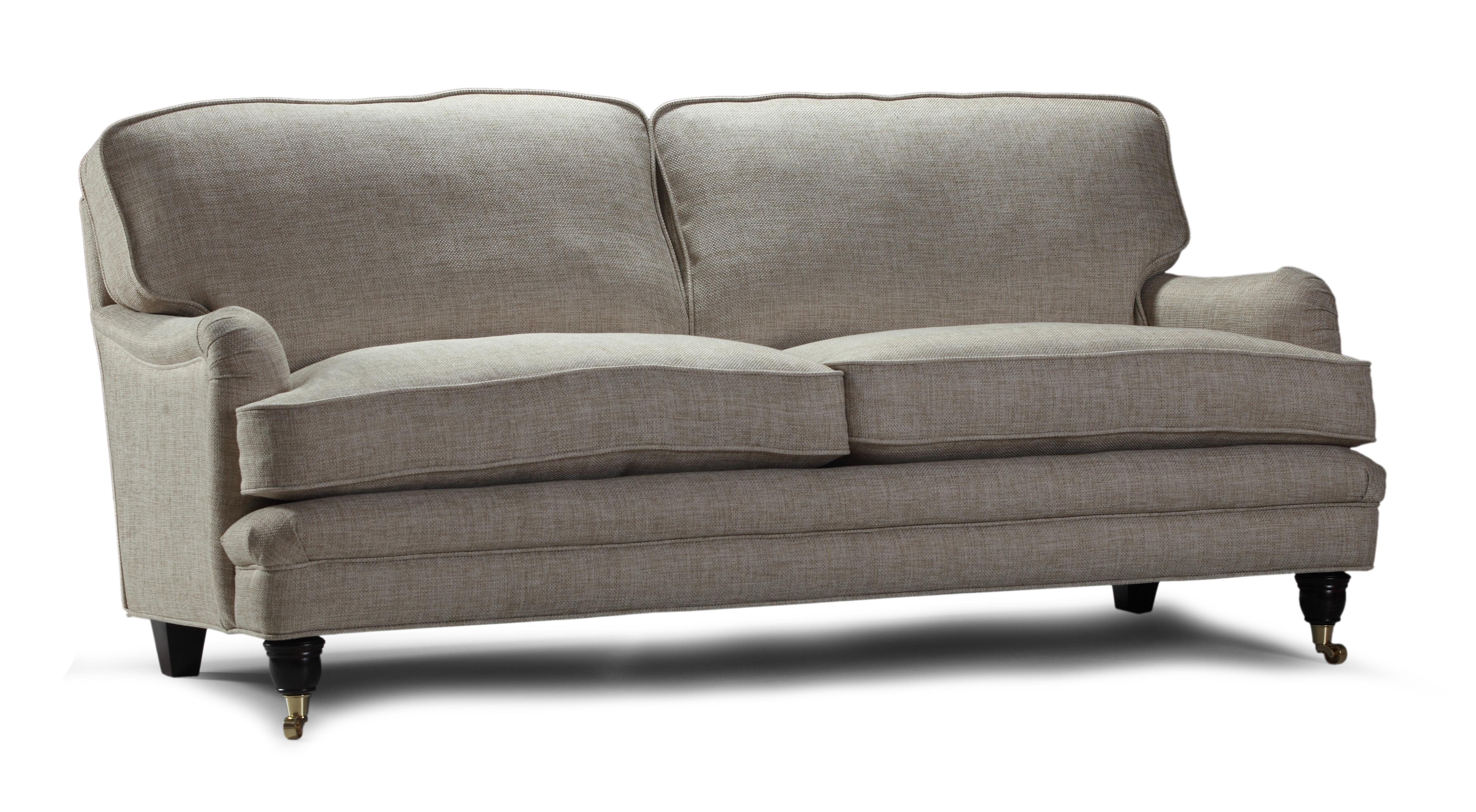 Canapea fixa 2 locuri tapitata cu stofa Ralf Grey