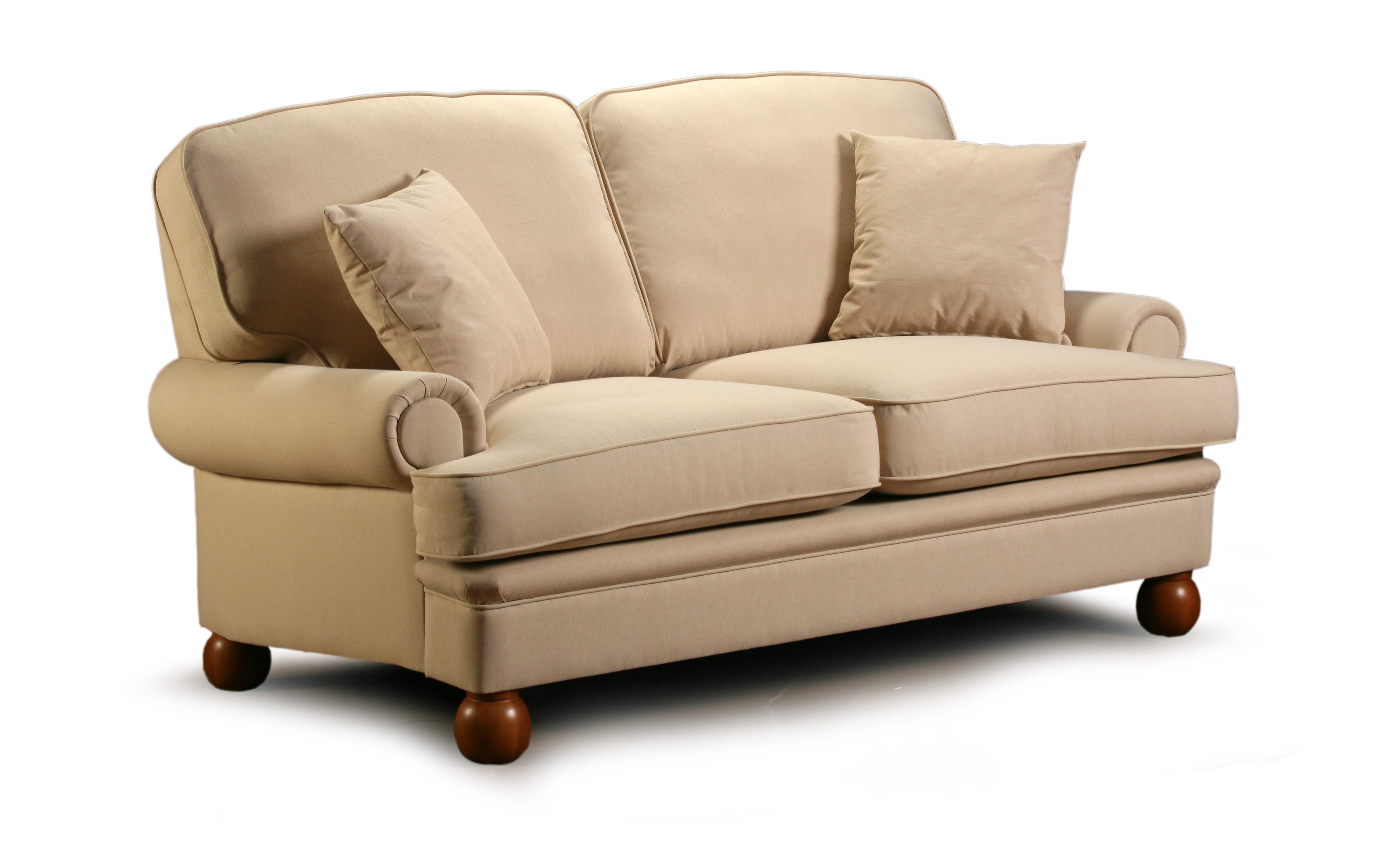 Canapea fixa 2 locuri tapitata cu stofa Oxford