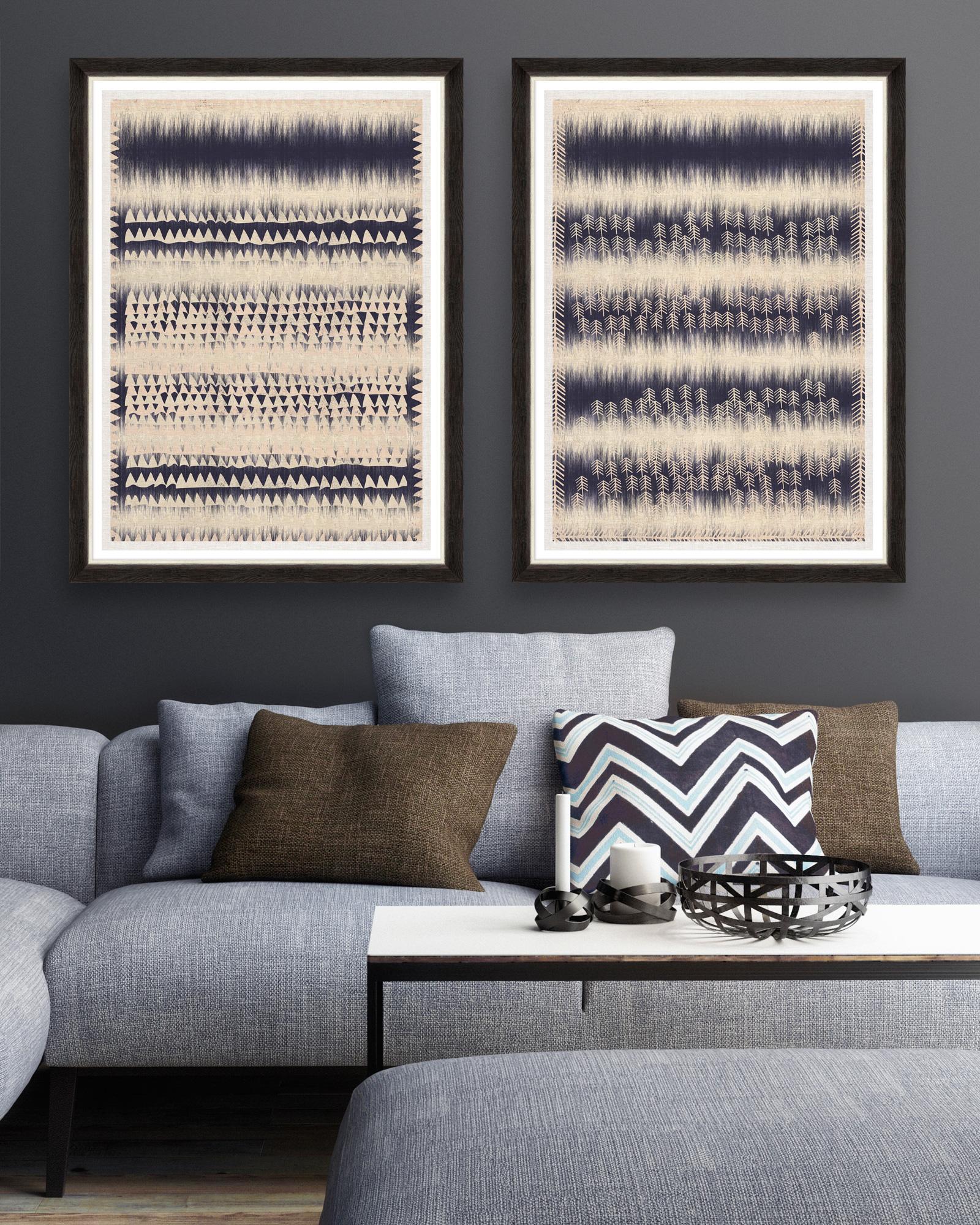 Tablou 2 piese Framed Art Indigo Patterns imagine