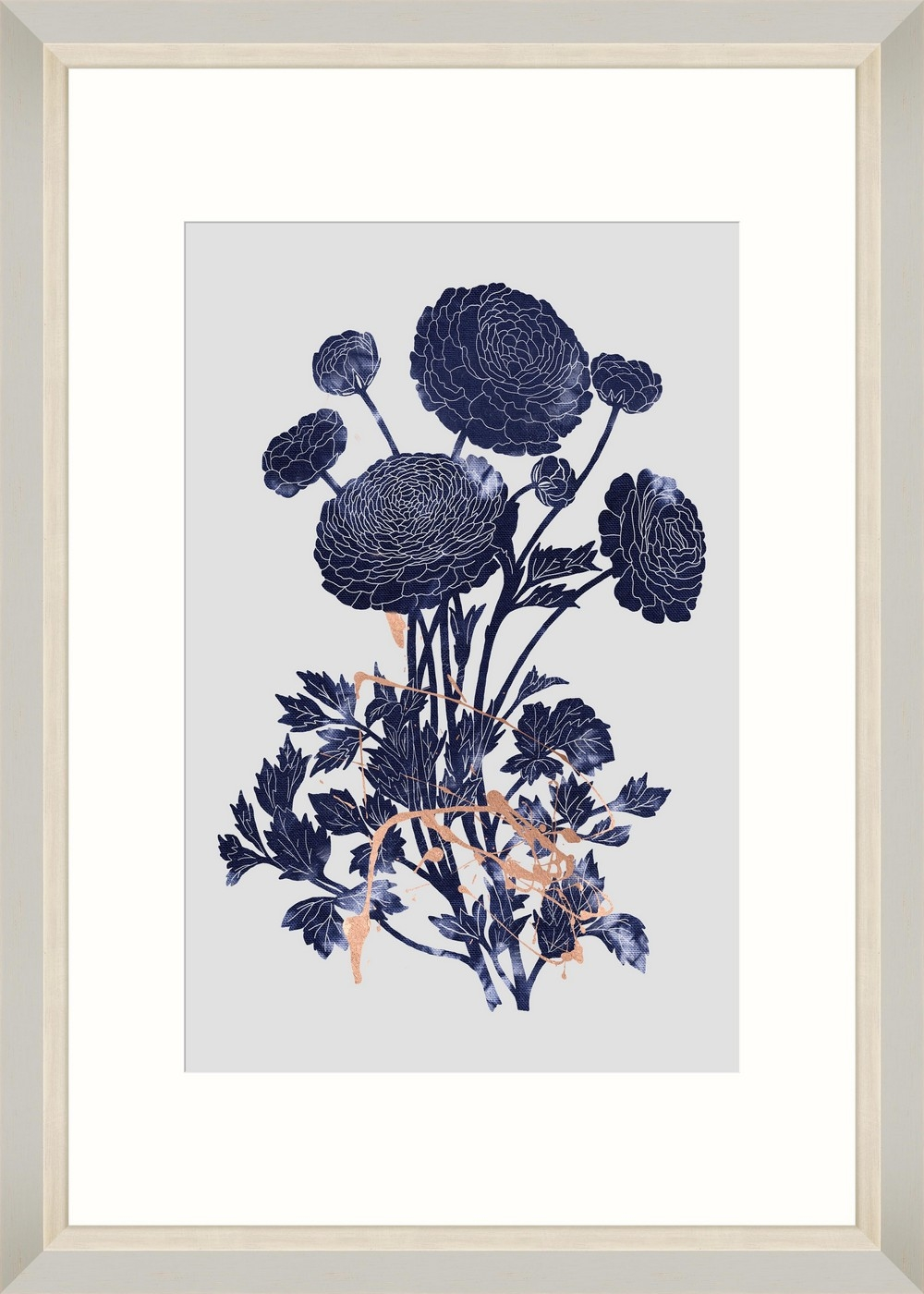 Tablou Framed Art Indigo Ranunculus imagine