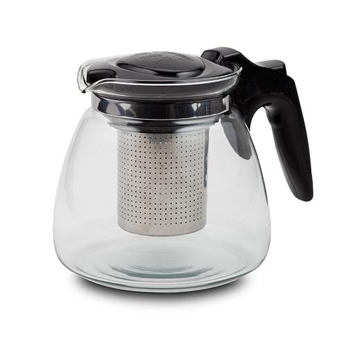 Infuzor din sticla pentru ceai Misty Negru, 1100 ml