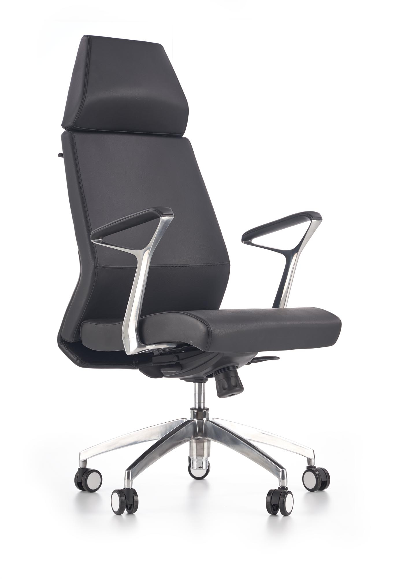 Scaun de birou ergonomic tapitat cu piele ecologica Inspiro Negru, l64xA67xH119-125 cm